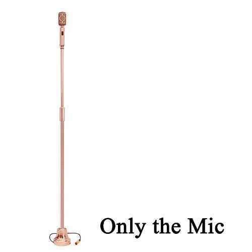 haukel Verdrahtet Klassische Metallbeschichtung Vintage Mikrofon Retro-Mikrofon Mit Integriertem Hydraulikzylinder Ständer, Z9 ()