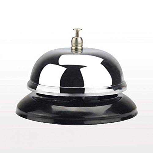alle Bell - Customer Service Bell, Office Desk Bell, Ringing Bell - for Home, Store or Hotel, Small, Silver