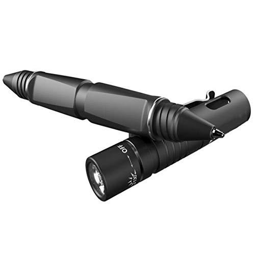 KCaNaMgAl Wasserdichte Taschenlampe, Anti-Fall 130 Lumen LED 40 Minuten-6h kann Taktische Stift 10180 Batterie schreiben Geeignet für Outdoor-Camping,Black