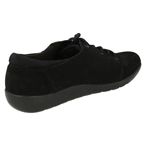 CLARKS Clarks Womens Shoe Medora Bella Black Nubuck Nero