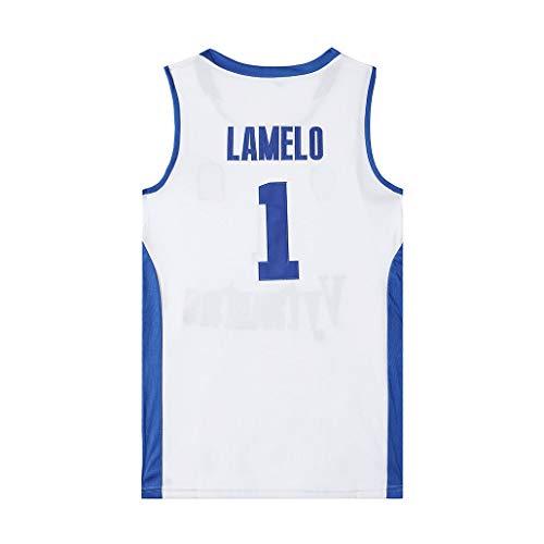 Auart Mens # 1 Jersey LaMelo Kugel Vytautas Litauen Basketball-Nationalmannschaft Unisex Weiß Breath Basketball Swingman Weste (Color : White, Size : M)