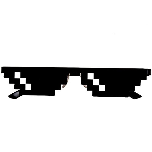 ILOVEDIY Thug Life Brille 8 bit Meme brille Lustig Party Unisex Sonnenbrille Spielzeug Deal With It Glasses (#1)