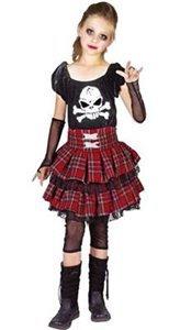 P'tit Clown 88154Kostüm für Kinder Luxe Punk Mädchen–Mehrfarbig (Punk Kostüm Für Kinder)