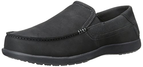crocs Santa Cruz 2 Luxe Leather Men, Herren Slip-On, Schwarz (Black/Black), 45-46 EU Crocs Slip On Schuhe
