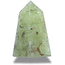 Quarzo verde rutilé minerali pietra naturale per litoterapia.–Obelisco