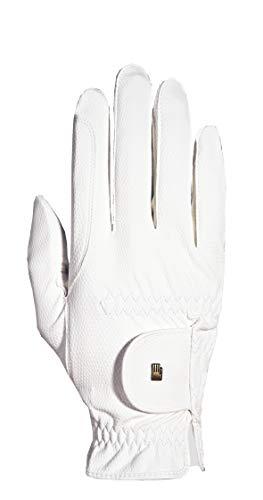 Roeckl Sports -Roeck Grip Junior- Handschuh, Kinder Reithandschuh, Weiß, 4