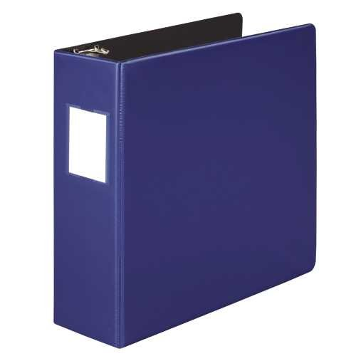 Heavy-Duty No-Gap D-Ring Binder With Label Holder, 3