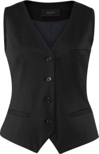 GREIFF Damen-Weste Anzug-Weste MODERN slim fit - Style 1246 - schwarz - Größe: 32 (Leibchen Anzug)