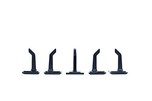 5er Pack Werkzeughaken Kleiderhaken und Gerätehaken passend für Toolflex Schienensystem (5k Jacke)