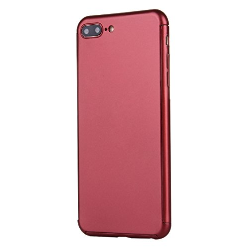 FBA-iPhone 8, 7 360 Degree Combination Case - Black Red