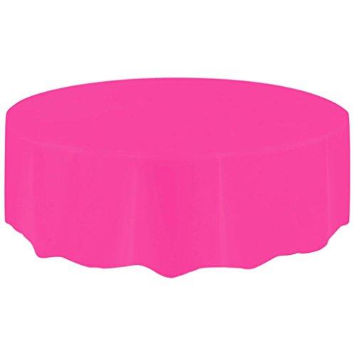 hunpta Tischdecken, rund, groß, Kunststoff, rund, abwischbar hot pink (Tischdecke Pink Hot)