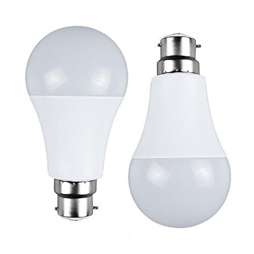 LAKES Motion Sensor Light Bulb, Dusk-to-Dawn Security LED Bulbs, 7W Radar Smart Bulb 60W Equivalent, B22 Bayonet Base Indoor/Outdoor Motion Sensor Night Bulb, 3000K Warm White, Auto On/Off