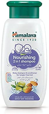 Himalaya Baby Nourishing 2-In-1 Shampoo with Conditioner | No Sulphates, Parabens & Silicon Is a No-Tears,