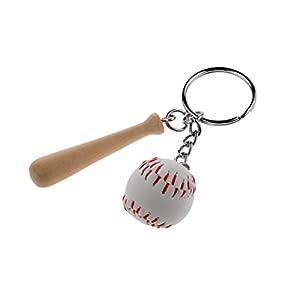 Mini Baseball Wood Bat Set Auto-Schlüssel-Anhänger Schlüsselanhänger...