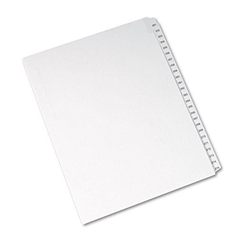 allstate-style-legal-side-tab-dividers-25-tab-251-275-letter-white-25-set-sold-as-1-set