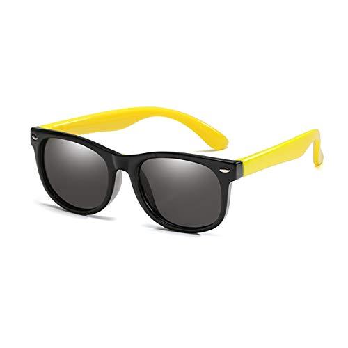 Sport-Sonnenbrillen, Vintage Sonnenbrillen, Children Polarized Sunglasses TR90 Baby Classic Fashion Eyewear Kids Sun Glasses Boys Girls Sunglasses UV400 Oculos Black-Yellow