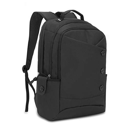 Zaino porta pc donna ummo antifurto zanio scuola vintage borsa per laptop da 15.6 pollici per ufficio lavoro università viaggio d'affari weekend lavorativi nero