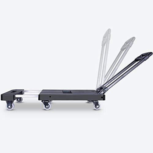 Pianale ribassato pesante a mano mobile for veicolo a spinta portatile con carrello a sei ruote tipo carrello nero