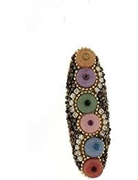 Anuradha Art Multi Colour Brooch & Sari Pin For Women/Girls