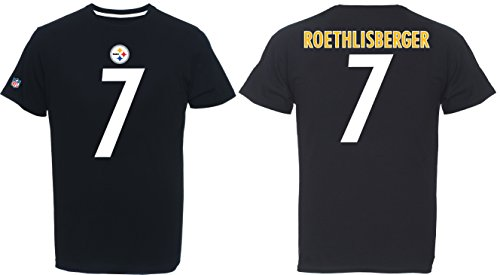 NFL Pittsburgh Steelers Ben Roethlisberger Player Name & Number Tee (Majestic Athletic) (Large)