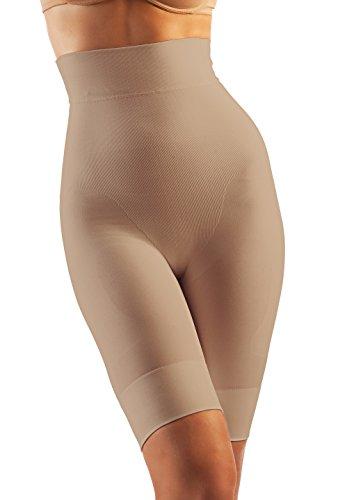 Oakeysì BAK04 (Nude, M) Guaina Contenitiva Vita Alta al Bamboo Shorts Modellanti Push-up