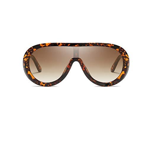 Yncc Männliche Und Weibliche Persönlichkeit Brillengestell Trend Punk Wind Brillengestell Retro Brille Vintage Retro Brille Unisex Big Frame Sonnenbrille Eyewear (C)