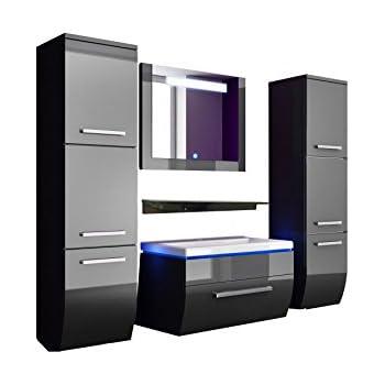 badm bel set badezimmerm bel komplett set waschbeckenschrank mit waschtisch spiegel 2. Black Bedroom Furniture Sets. Home Design Ideas