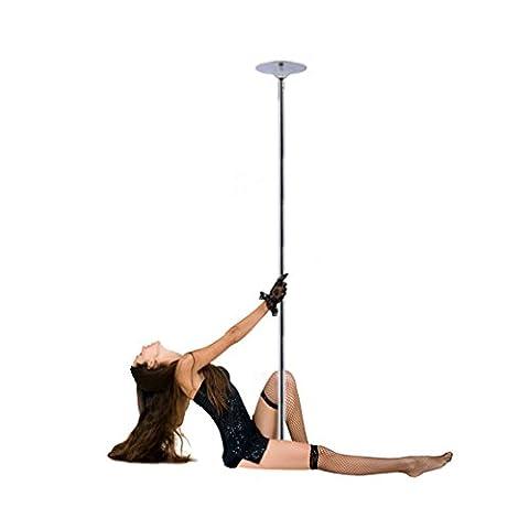 Rovate professionelle verchromte Pole-Dancing-Stange Tanzstange einstellbar 2.2M-2.7M Belastbar bis 120kg