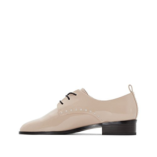 Beige Derby Femme Studs Redoute La Collections Pour RpHBnFW