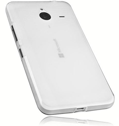 mumbi Schutzhülle für Microsoft Lumia 640 XL Hülle transparent weiss