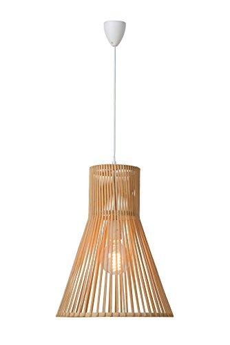 Lucide Babou lámpara colgante E27 D 36 H47cm, bamboo 06499/36/72