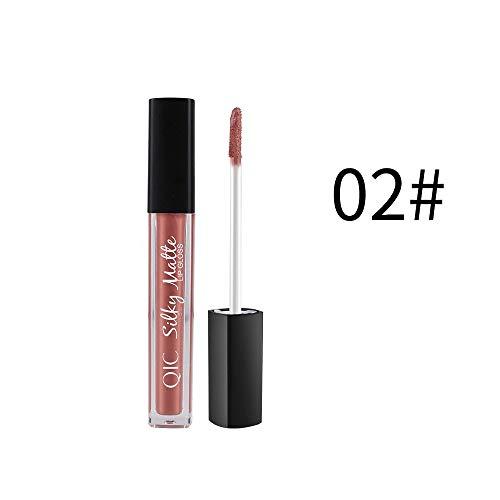 friendGG Makeup Velve Lippenstift Brown Nude Chocolate Color Flüssiger Lippenstift Lipgloss Matte...