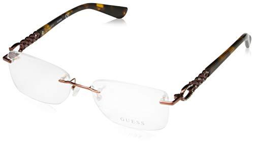 Guess Damen Brille Gu2578 049 53 Brillengestelle, Braun,