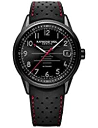 RAYMOND WEIL FREELANCER PILOT HOMME 42MM AUTOMATIQUE MONTRE 2754-BKR-05200