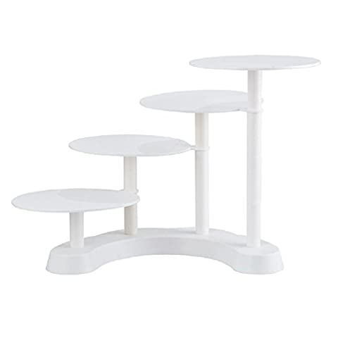 Cooshional 4 Tier Wedding Cake Stand, Celebration Party Multilayer Cupcake