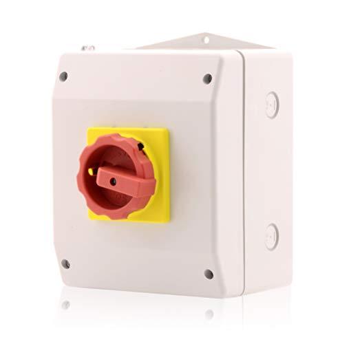 Intratec Hauptschalter im Gehäuse Lasttrennschalter 4-polig 63A Reparaturschalter Not-Aus-Schalter Premium Version VDE CE UL CSA