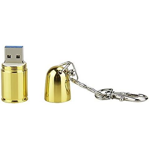 USB 3,0 de alta velocidad almacenamiento Flash bala de oro memoria lapicera disco Flash Stick Pendrive (32.0 GB)