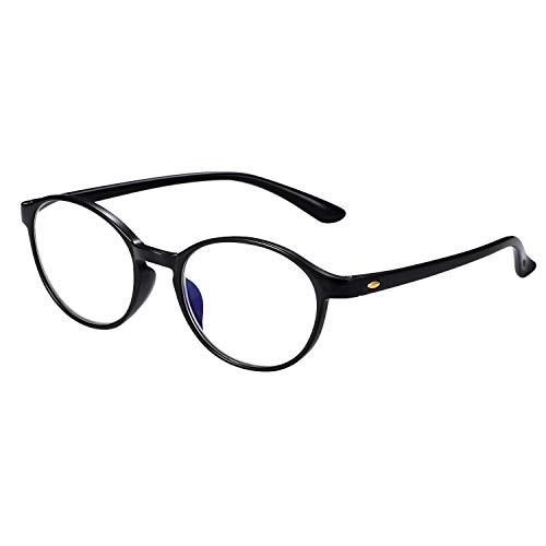 Aroncent Lesebrille Lesehilfe Sehhilfe Computer Lesebrille Augenoptik Arbeitsplatzbrille Anti Blue Rays UV400 Leser Brille Schwarz für Damen Herren