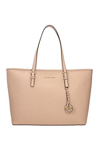 shopper-taschen-michael-kors-damen-leder-auster-und-gold-30t5gtvt2loyster-rosa-15x29x375-cm