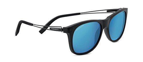 Serengeti occhiali da sole pavia, unisex, pavia, nero satinato, m