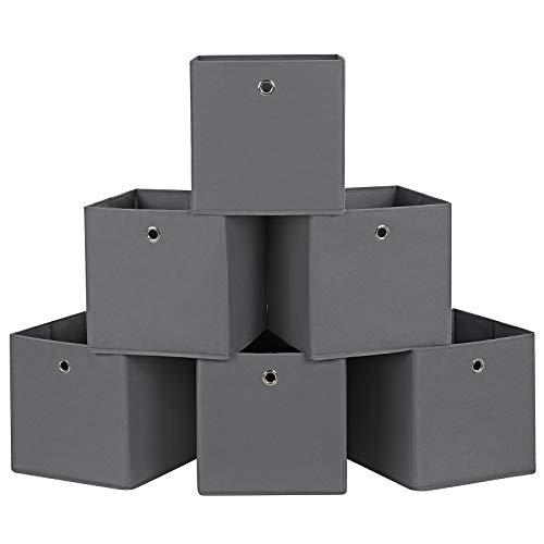 SONGMICS Juego 6 Cajas almacenaje Cubos