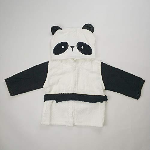 CXBHB Baumwolle Kinder Bademantel Baby Badetuch Baby Bademantel Vollmond Service 1 Stück, Little Panda, Large Size (3-5 Years Old)