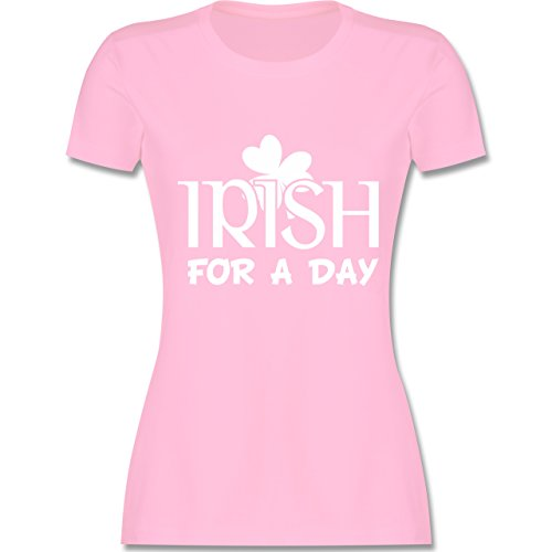 St. Patricks Day - Irish for A Day St Patricks Day - M - Rosa - L191 - Damen T-Shirt Rundhals
