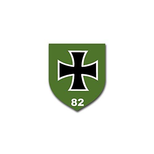 Copytec Aufkleber/Sticker - PzGrenBtl 82 Panzer Grenadier Bataillon Lüneburg Schlieffen Kaserne Leo Bundeswehr Wappen Abzeichen Emblem passend für VW Golf Audi A4 Mercedes Benz (7x6cm)#A1293 - Leo-abzeichen