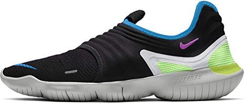 Nike Herren Free Rn Flyknit 3.0 Leichtathletikschuhe, Mehrfarbig (Black/Hyper Violet/Laser Orange 000), 44 EU