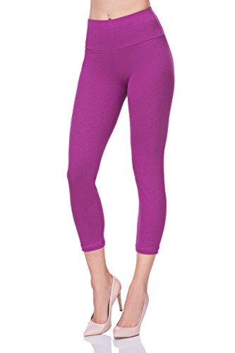 FUTURO FASHION 3/4 Leggings Taille Haute Panneau de Contrôle Actif Pantalon Toutes Les Tailles 36-50 EU LWP34