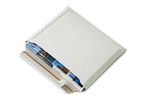 Versandtaschen weiß Vollpappe (Querbefüllung) Karton DIN A4 - flach: 315x240mm / aufgestellt 280x190x50mm (PS.163) (25)