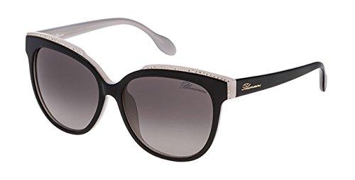 Blumarine occhiali da sole donna originale sbm 683s lenti calibro 55 201718 new colore principale 09p2 nero/grigio taglia calibro 55 aste 135