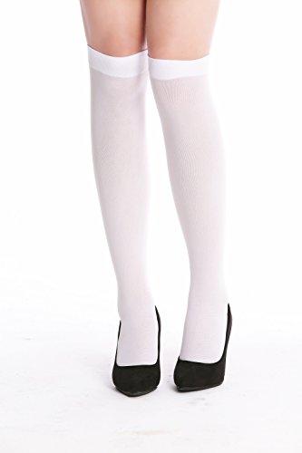 DRESS ME UP W-019W-white Strümpfe Stockings Kurz Kniestrümpfe Weiß Krankenschwester Gothic Lolita