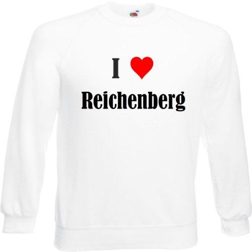 Reifen-Markt Sweatshirt I Love Reichenberg Größe 2XL Farbe Weiss Druck Schwarz